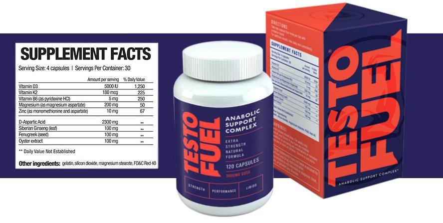 Testofuel supplement facts